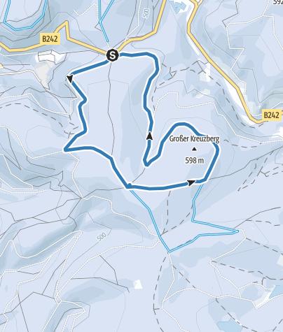 Karte / Kreuzbergloipe 5,8km
