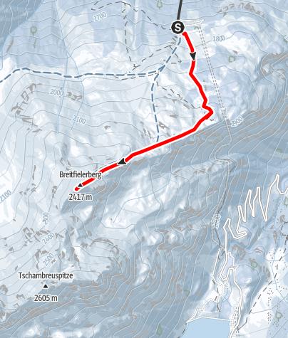 Karte / Breitfielerberg (2.417m)