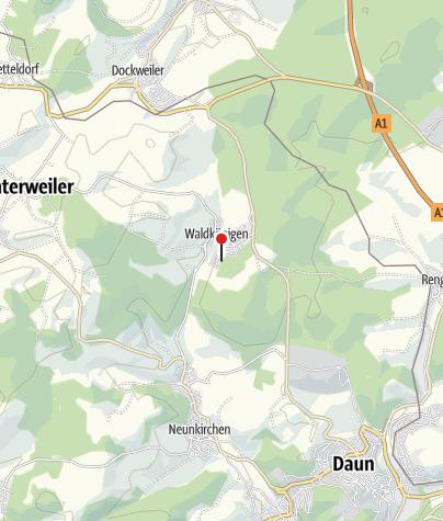 Karte / Ferienwohnung Eifelgrashüpfer