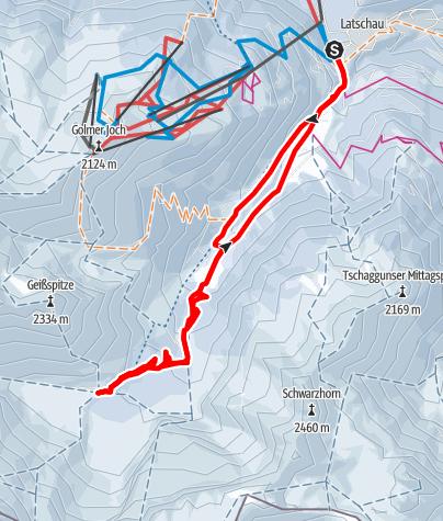 Map / Lindauer Hütte (1.744m)