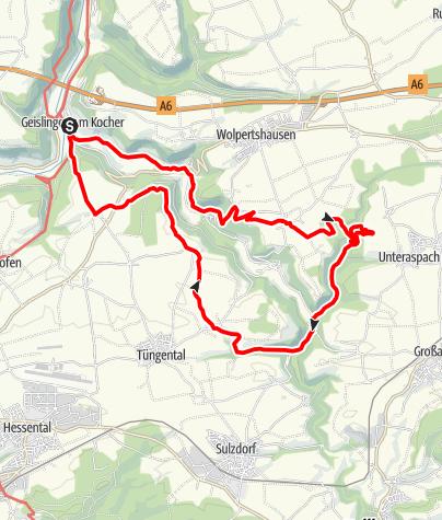Karte / Spuren der Vergangenheit