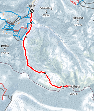 Karte / Rotbühelspitze (2.853m)