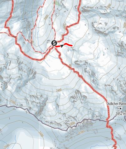 Karte / Klettergarten Tübinger Hütte
