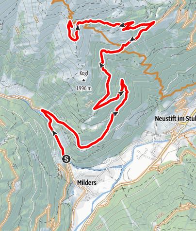 Karte / Starkenburger Hütte von Milders