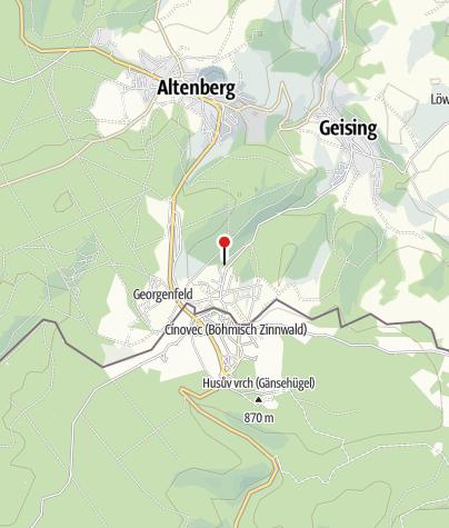"""Karte / Besucherbergwerk """"Vereinigt Zwitterfeld zu Zinnwald"""""""