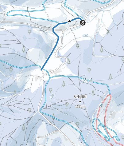 Karte / Verbindung Höfe Spur und Panorama-Hochbergspur