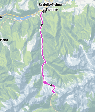 Cartina / Giro d'Italia - P.so Manghen
