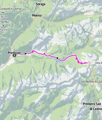 Karte / Giro d'Italia Aufstieg - Rolle Pass