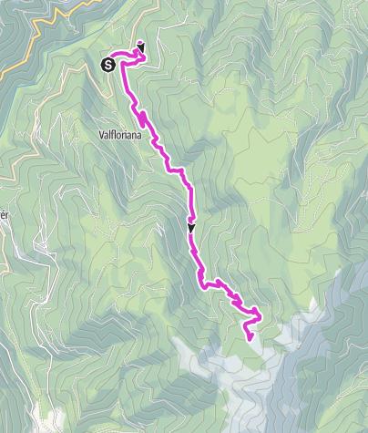 Cartina / Giro d'Italia - Malga le Buse dal Sasso