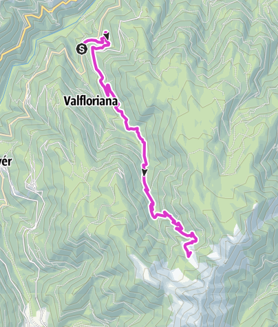 Karte / Giro d'Italia Aufstieg - Le Buse del Sasso Alm