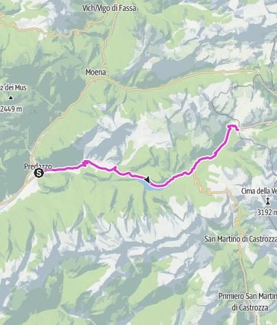 Karte / Giro d'Italia Aufstieg - Valles Pass
