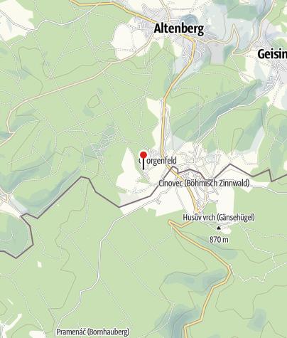 Karte / Hotel Lugsteinhof - 1. Osterzgebirgisches Wintersportmuseum