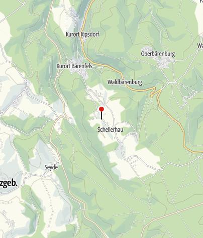 Karte / Skiausleihe Schellerhau und Rehefeld