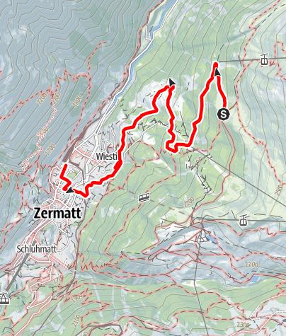 Carte / Sentier forestier de Zermatt (Nr. 12)
