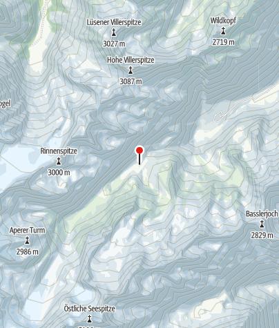 Karte / Yoga-Energieplatz Franz-Senn-Hütte