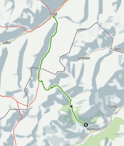 Karte / Silvretta-Historica – Siedlertour über den Fimberpass