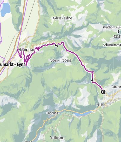 Cartina / Vecia Ferovia della Val di Fiemme