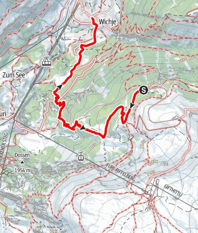 Carte / Sentier de Riffelalp (Nr. 20)