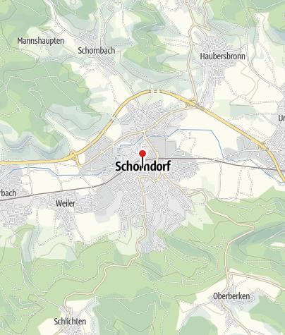 Karte / Rathaus Schorndorf