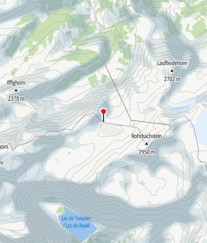 Kaart / Schutzhütte Kreuzhütte - Rawilpass, Lenk