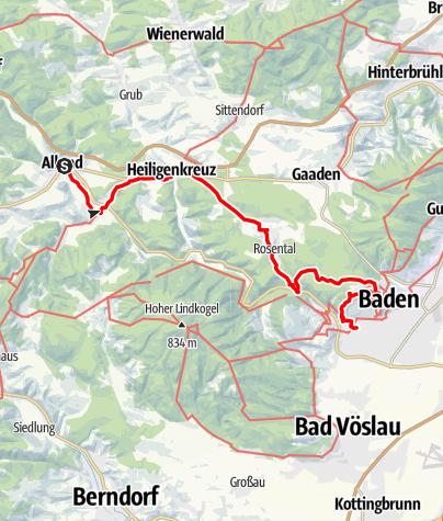 Karte / Kulturwanderweg durch das Helenental