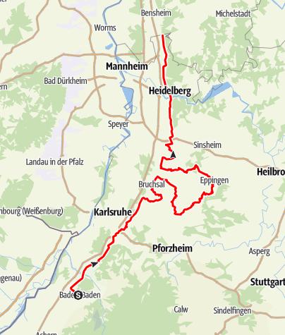 Karte / Badische Weinstraße