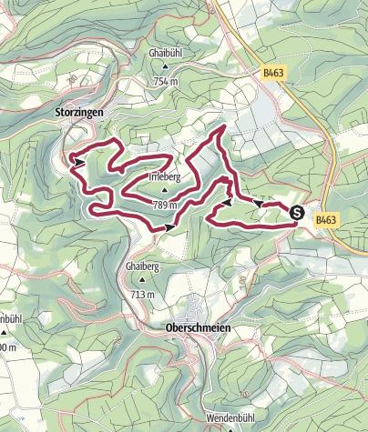 Karte / Donaufelsenläufe - Wilde Täler - Fürstliche Höhen