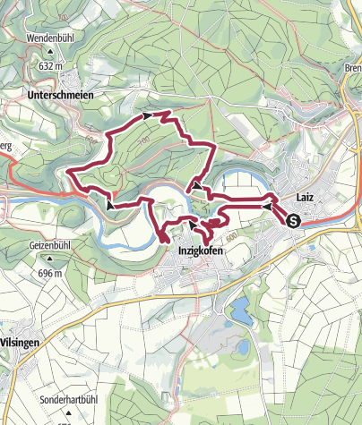 Karte / Donaufelsenläufe - Kloster-Felsenweg