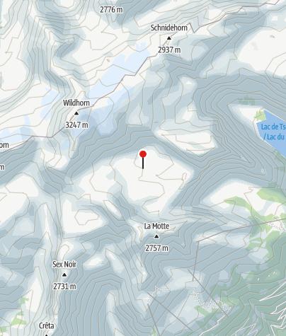 Kaart / SAC Hütte - Cabane des Audannes