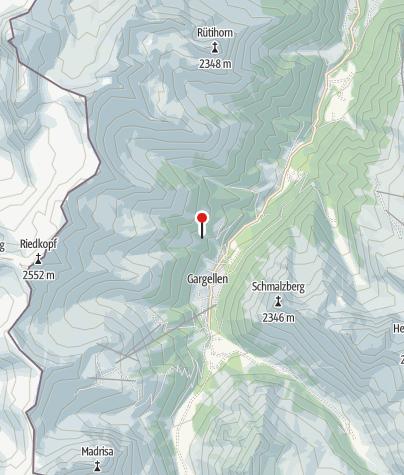 Kaart / Ausstieg Klettersteig Röbischlucht