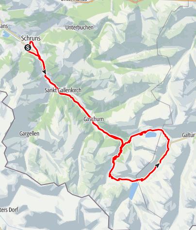 Kaart / 3-Seen Tour Silvretta (Silvretta-Bielerhöhe)