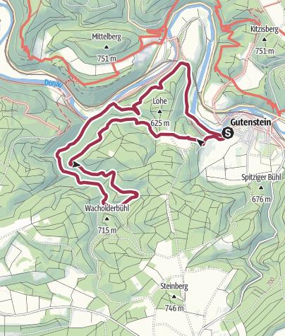 Karte / Donaufelsenläufe - Bettelküchenfährte