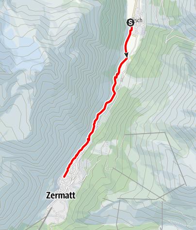 Map / Täsch-Zermatt Railway Trail (Nr. 50)