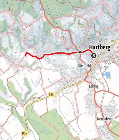 Karte / Wander- oder Radweg zur Villa Rustica