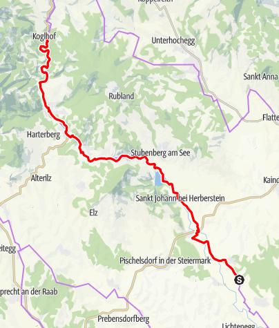 Karte / Feistritztalradweg-R8 Klammradeln