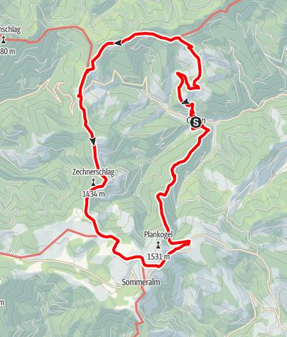 Karte / Hüttenrundwanderweg Gasen