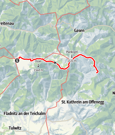 Karte / Almenland-Wanderweg
