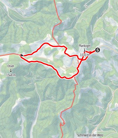 Karte / Siebenkögel  Sommeralm - Rundweg
