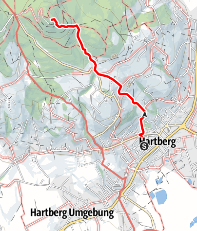 Karte / Aufstieg zur Ringwarte - Steinere Stiege