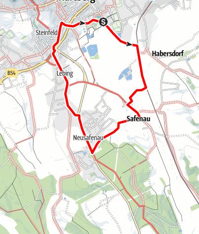 Karte / Rundweg HERZ-Safenau-Neusafenau-Lebing-Zentrum-HERZ