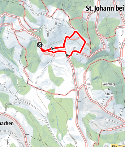 Karte /  Erlebnis Weinlehrpfad Hoferberg- St- Johann bei Herberstein u. Siegersdorf