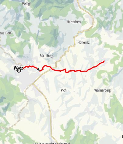 Karte / Apfelwanderweg nach Puch