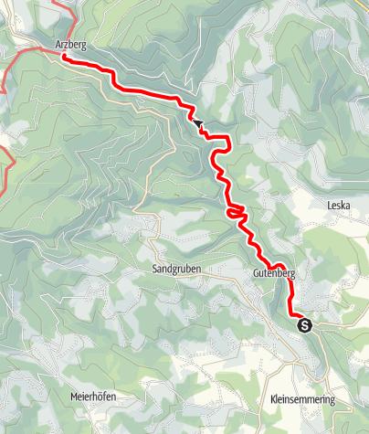 Karte / Große Raabklamm