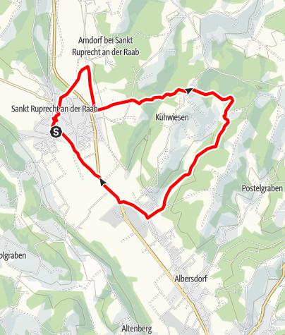 Karte / St. Ruprecht - Fitnesslaufstrecke