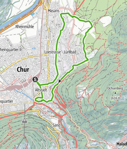 Karte / Churer Höhenweg