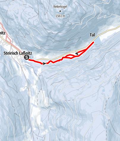 Karte / Talloipe Laßnitz