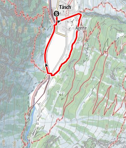 Map / Täsch Panorama Trail (Nr. 43)