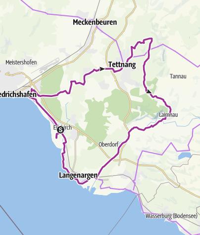 Karte / Hopfenschlaufe - von Tettnang zum Schwäbischen Bodensee