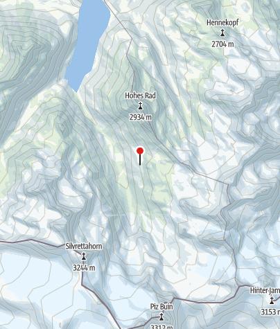 Karte / Blick auf den Piz Buin