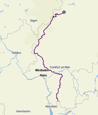 Map / Hessischer Radfernweg R8